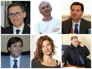Da sinistra: Francesco Damiani, Damiano Coletta, Paolo Marini, Fabio Miraglia, Rosa Giancola ed Enrico Forte