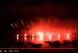 VIDEO Musica e fuochi d'artificio, a Formia lo spettacolo è emozionante