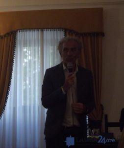 Il sindaco Damiano Coletta durante il suo intervento