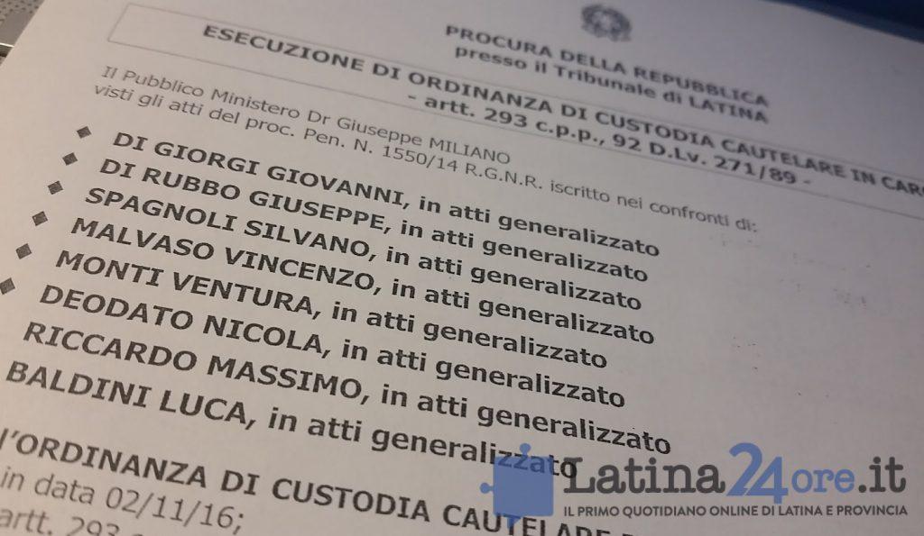 ordinanza-arresti-comune-latina-olimpia