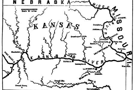Map Of Bleeding Kansas - Bleeding us map