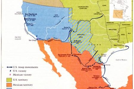 mexican war maps