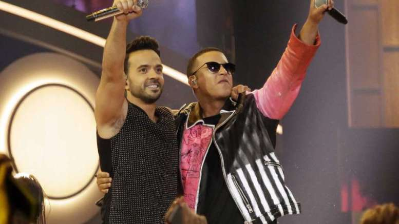 This April 27, 2017 file photo shows singers Luis Fonsi, left, and Daddy Yankee during the Latin Billboard Awards in Coral Gables, Fla. Photo: Lynne Sladky, STF