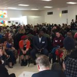 Participants speak in a Breakout session on business social accountability at the Denver Gentrification Summit on Jan. 13, 2018. Photo: Noelle Phillips, The Denver Post