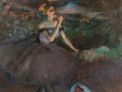 Dancer with Bouquets ca. 1895-1900 Edgar Degas, French, 1834-1917 Oil on canvas Gift of Walter P. Chrysler, Jr., in memory of Della Viola Forker Chrysler #71.507