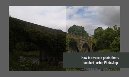 How To Rescue A Photo That's Too Dark, Using Photoshop