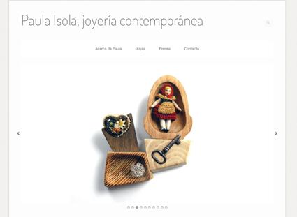 Paula Isola, Joyería contemporánea