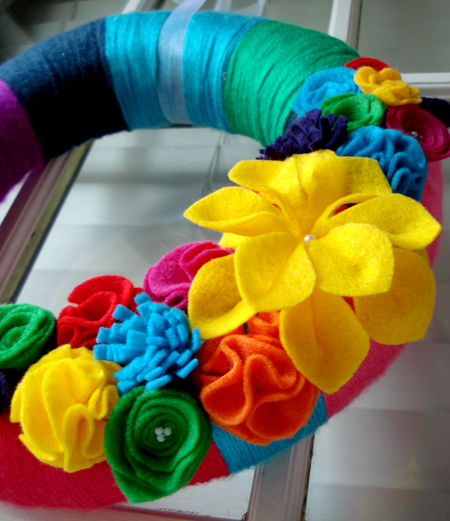 colorful wreath detail
