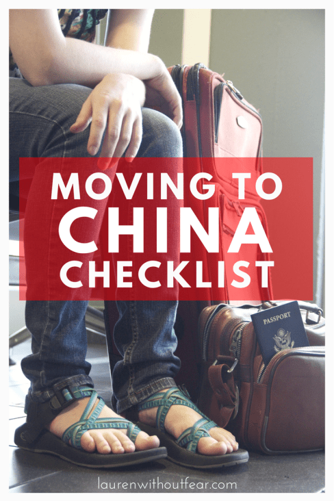 Moving to China Checklist | moving to china from usa living in china as an american foreigner woman what to do how to prepare before moving visa resident's permit china travel guide