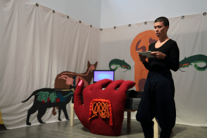 Performance - narrator speaks-The anger of the intestine-Laurie Charles