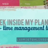 a peek inside my planner + time management tips