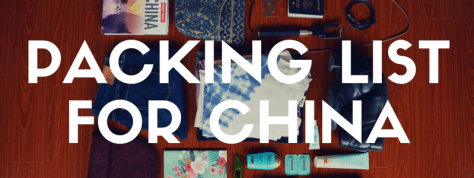 Female Packing List For A Year In China | Packing For A Year Abroad