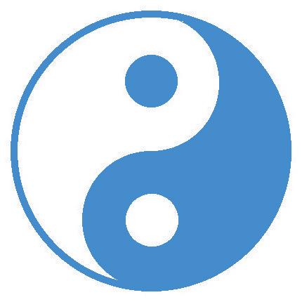 yin-yang bleu