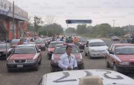 Taxistas exigen la destitución del delegado de Transporte Público de Tantoyuca