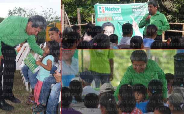 Reciben a Manuel Francisco Martínez Martínez en localidades de Tantoyuca