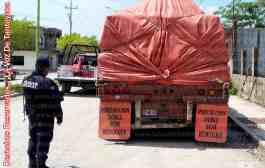 Elementos Policiacos aseguran dos remolques presuntamente abandonados