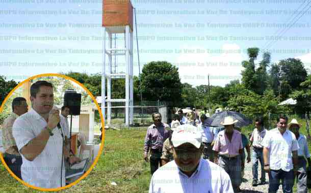 Inauguran tanque elevado de agua potable en La Puerta municipio de Chalma