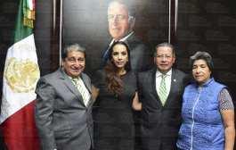 Informa comisión de diputados a Gobernador Flavino Ríos instalación de la LXIV Legislatura
