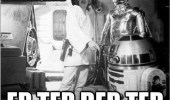 An ermahgerd meme of Star Wars with R2-D2 and C-3PO. Ermahgerd Er Ter Der Ter.