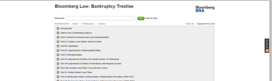 Bloomberg BNA Unveils Online Bankruptcy Treatise with Real-time Updates