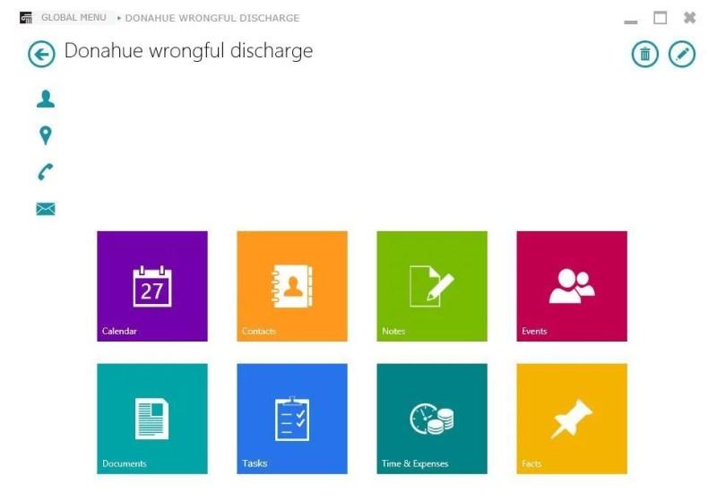 CaseManager's desktop version for Windows.