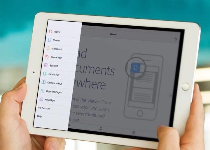 Acrobat DC Mobile App Tools View On iPad