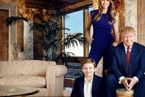يعيش في المنزل دونالد ترامب وزوجته ميلانيا وابنهما بارون 9 سنوات