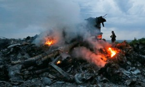 Crash site of Malaysia Airlines flight MH17