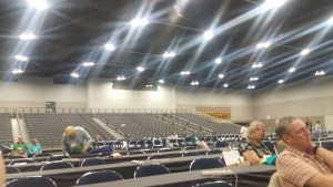 From my seat on press row looking back at observer seating during GA222 debate of the apology overture