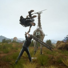 Final Fantasy XV screens show shops, safety hazards