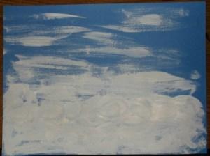 1-snowman-brush on white paint