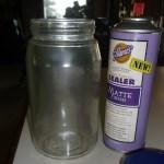 dot painted jar. 2b