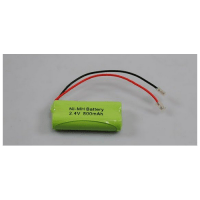 2.4V 800mAh cordless phone rechargeable battery 2 AAA size