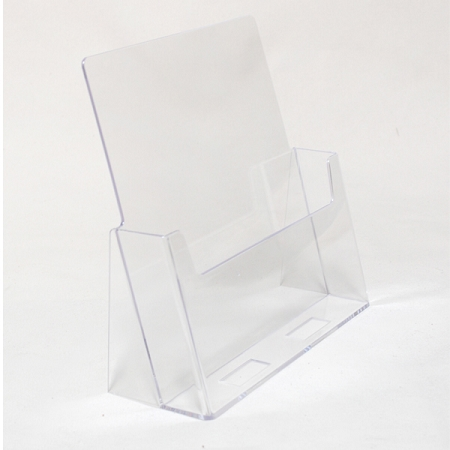 Brochure holders for 8 5 x11 literature   Acrylic  variety of sizes Clear acrylic slant back brochure Holder fits Full Size 8 1 2 x 11  Literature