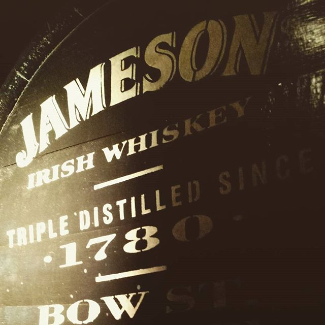 Jameson distillery tour and tasting. This one is for Paul and Jim Samson.