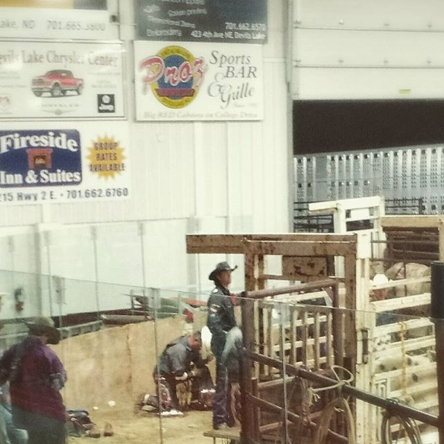 Bull riding requires faith in something. .. and insanity.