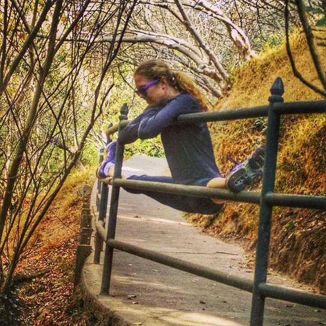 Just your average walk at the dog park.  #dancersareweird #betflashcantdothis