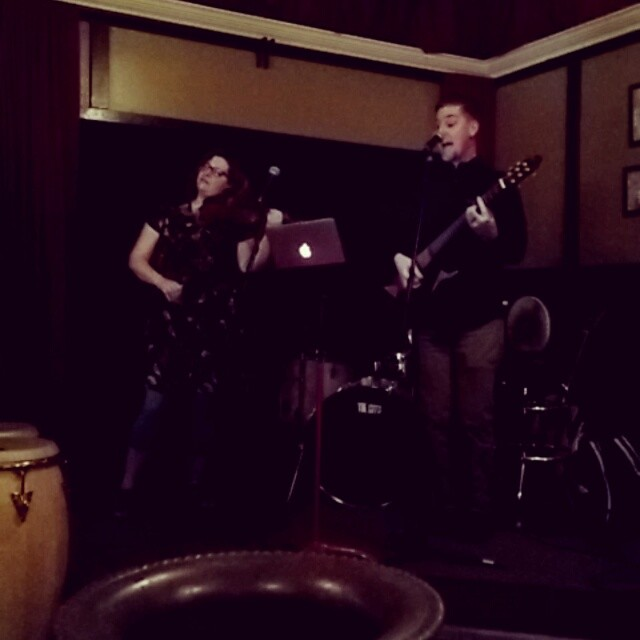 I see a new band in the works. Ted and Michelle Levy tearing it up at #openmicnight