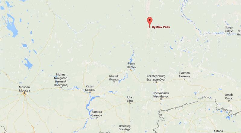 dyatlov pass mystery map