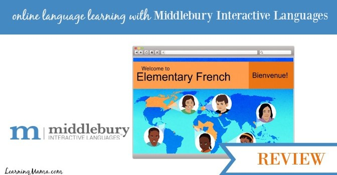 Middlebury Interactive Languages Elementary French Review - online language learning for your homeschool