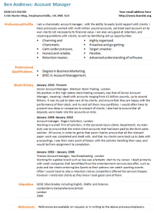 account manager manager cv example