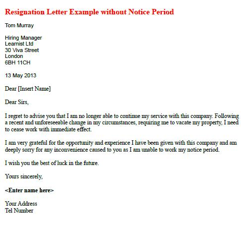 how to write resignation letter with notice period Resignation letter sample and reasonable notice by michael allemano often candidates are unsure of how to provide proper notice when resigning from their.