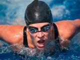 Female butterfly swimmer
