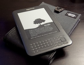 Kindle eBook reader.