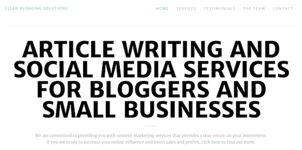 Clear Blogging Solutions