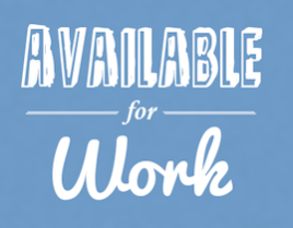 """Available for Work"" poster"