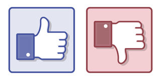 vector-facebook-like-dislike-thumb-up-sign-illustration-down-hands-isolated-white-44310287