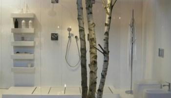 meuble de salle de bain déco : paravent, bois et tons naturels - Paravent Salle De Bain