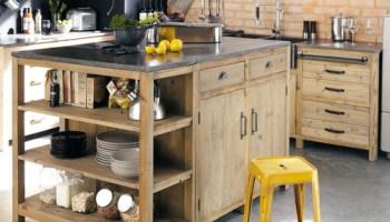 cuisine - où trouver des meubles indépendants en bois brut - le