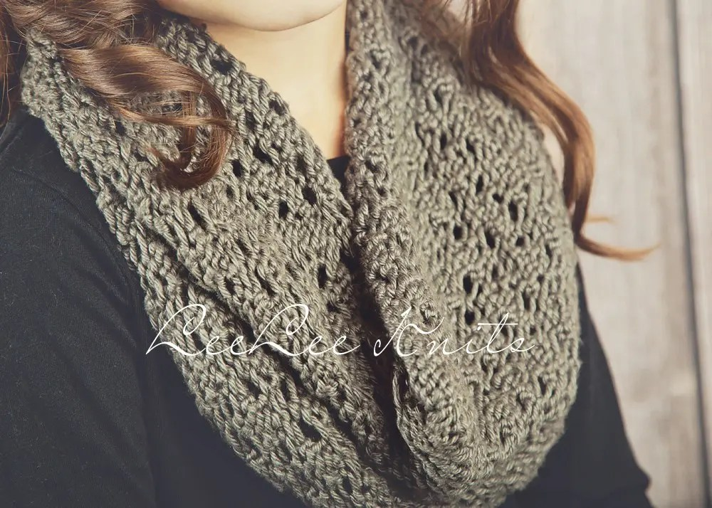 Knitting Pattern Child Infinity Scarf : Soft Lace knit infinity scarf pattern - Leelee KnitsLeelee ...